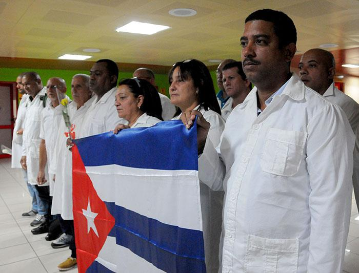 The Cuban Medical Brigade arrives in Havana following 62 days of collaboration efforts in Ecuador, caring for survivors of the earthquake.