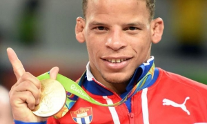 Ismael Borrero won Cuba's first gold medal of the Río Games.