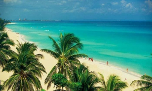 Varadero beach is Cuba's top tourist destination.