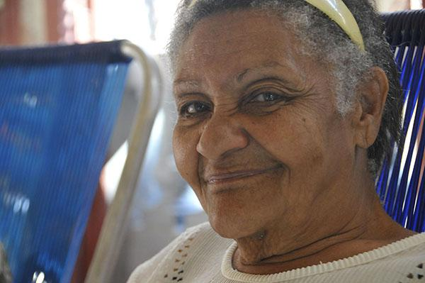 The happy face of a member of the Sol de Otoño Older Adult Community Center.