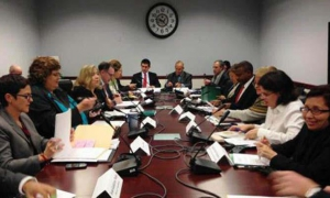 Cuban and U.S. delegations discuss combating trafficking in persons.