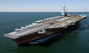 The nuclear-powered aircraft carrier Gerald R. Ford, cost approximately 13 billion dollars.
