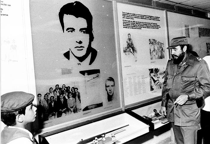 Comandante en Jefe Fidel Castro Ruz inaugurating the Ernesto Che Guevara Central Pioneers Palace on July 15, 1979.