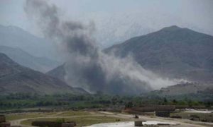 The bomb was dropped on the Achin district in Nangarhar province, in eastern Afghanistan, near the border with Pakistan.