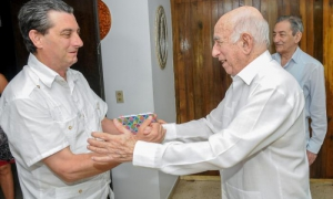 Machado Ventura receives delegation from the Communist Party of Spain