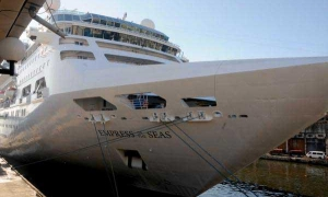 Empress of the Seas makes first stop in Cuba.