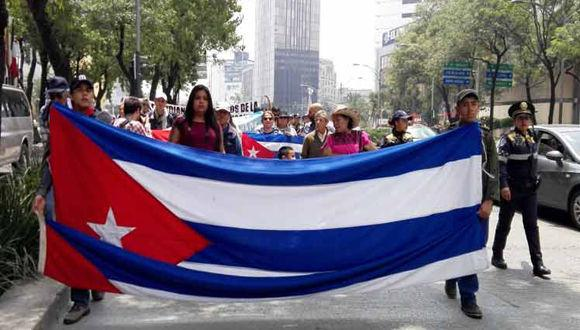 Mexican activists call for U.S. to end Cuba blockade