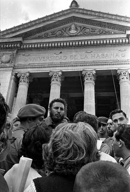 Fidel made countless visits to his old university.
