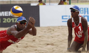 Cuba finishes top of Group A in Beach Volleyball World Championships.