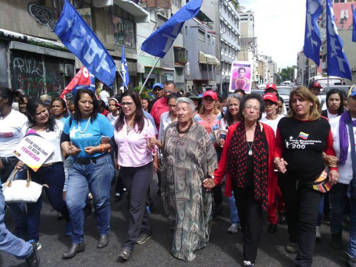 Feminist movements mobilize to defend women's rights in Caracas