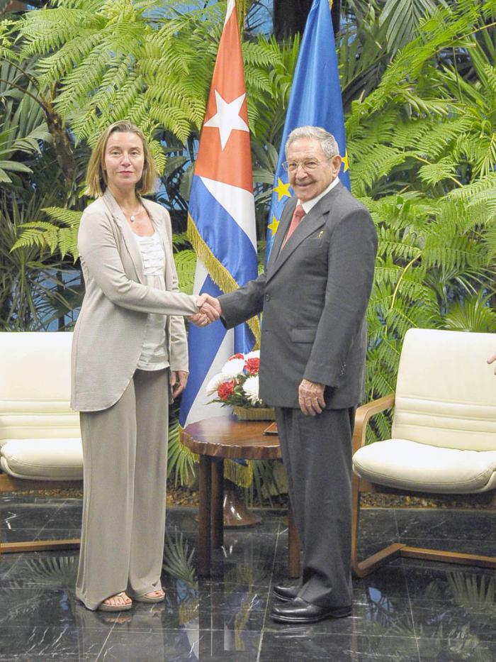 Raúl receives European Union High Representative for Foreign Affairs and Security Policy