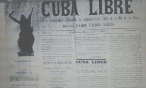Cover of issue 2 of the newspaper Cuba Libre, January 12, 1896.