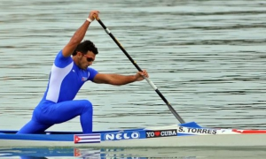Serguey Torres, one of Cuba's canoeing stars.