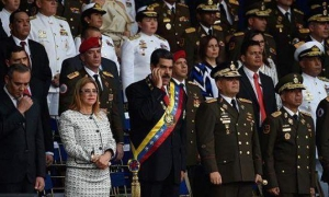 Venezuela's President during an event celebrating the 81st anniversary of the Bolivarian National Guard.