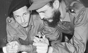 Fidel and Raúl in the Presidential Palace, January of 1959.