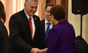 Díaz-Canel meets with U.S. congress members.