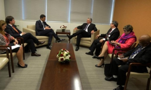 Cuban President meets with his Spanish and Argentine counterparts